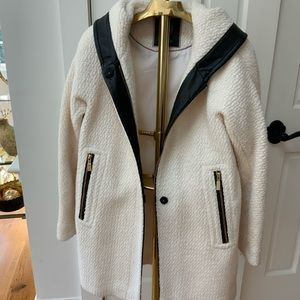 Vince Camuto white wool coat